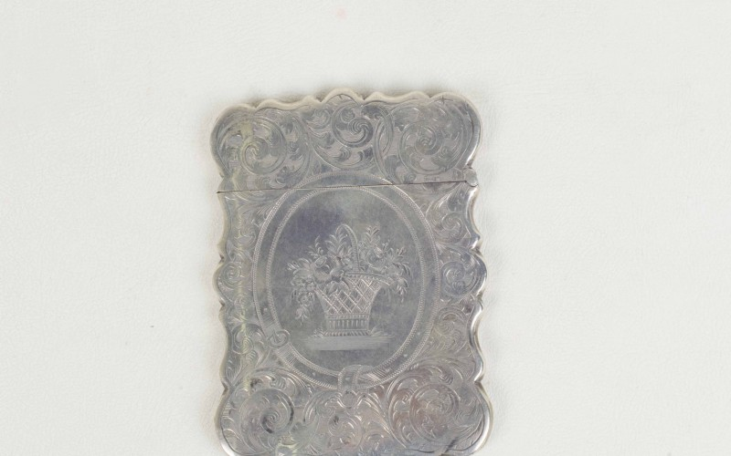 Silver visiting card case WMA93/119
