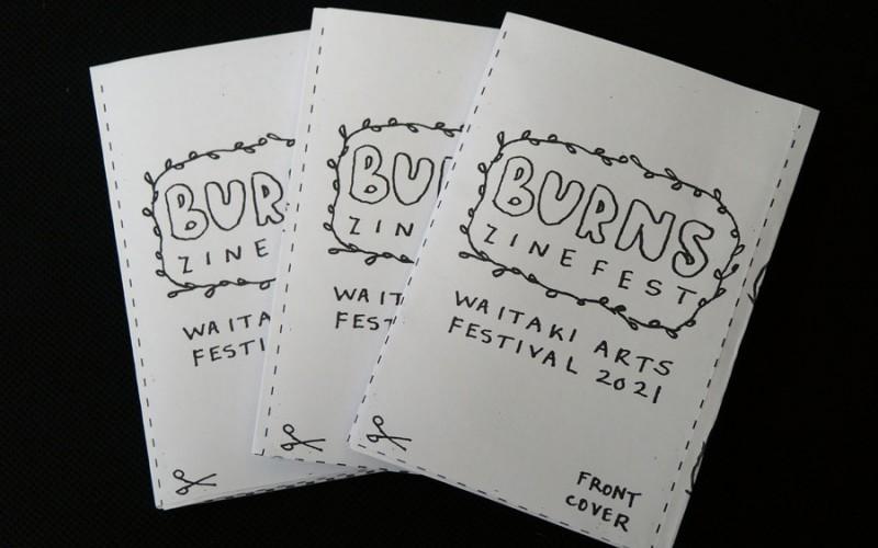 Image: Burns Zinefest book, Waitaki Arts Festival 2021