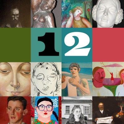 Image: poster from 12: Portraits from our Collection, Forrester Gallery, 2021