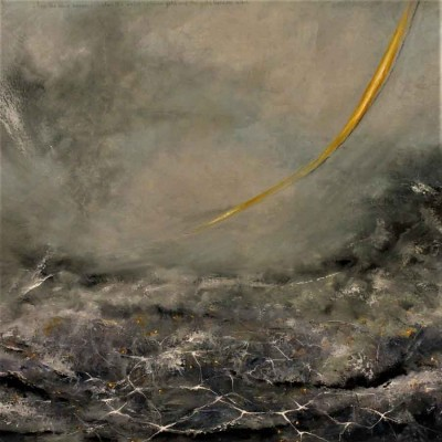 Image: no 8. ...And the wind became water, the water became gold, and the gold, became wind. Oil on canvas, Ioan Grigore