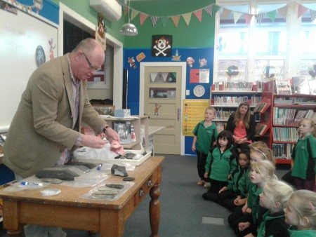 Professor Richard Walters at Maheno School