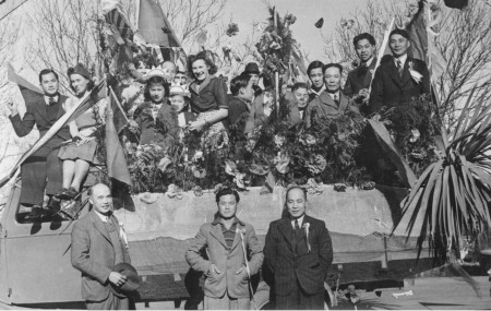 Waitaki District Archive 3742P: Chinese Community Float VJ Day Parade
