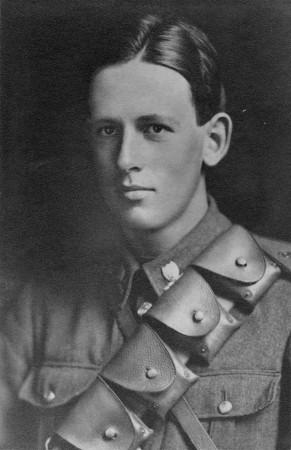 William Lyle Mitchell World War One soldier portrait in uniform