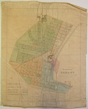 Plan of the town of Oamaru 1860, Waitaki District Archive 568