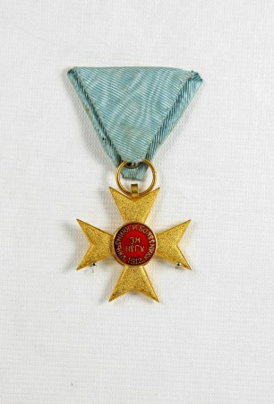 Serbian Cross of Mercy 1912 medal North Otago Museum 97/1105
