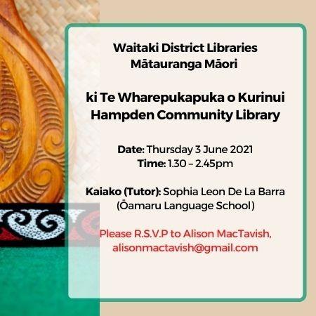 Hampden Library Matauranga Maori