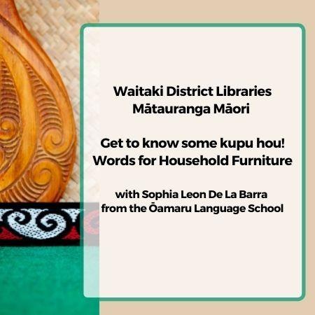 Mataurangi Maori Words for Household Furniture