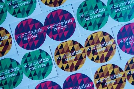photograph of wonderlab stickers