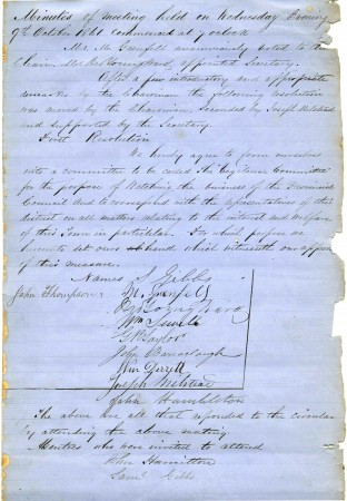 Vigilance Committee Minutes. Collection of Waitaki Archive 28110