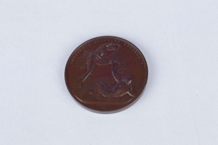 Lloyds Lifesaving Medal awarded to Donald McDonald. North Otago Museum 05/129