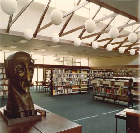 Oamaru Public Library interior - vintage photo