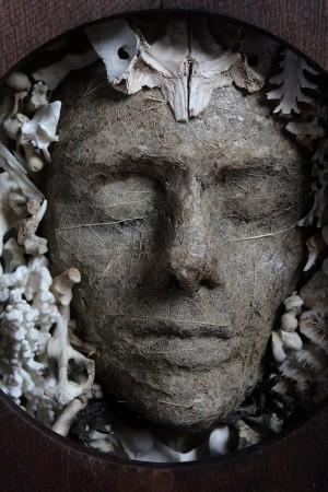 Image: Sister Skeleton Leaf, Bruce Mahalski, paper, leaf skeletons, bones and native timber