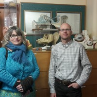 Elizabeth King Curator of Education with Chris Smith Curator of the W.D.Trotter Anatomy Museum at the University of Otago