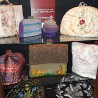 Tea cosy display at the Oamaru Opera House