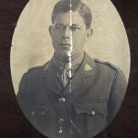 Image of A J Tiddy in World War One uniform. Waitaki District Archive 7935