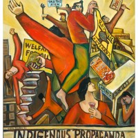 Nigel Brown, Indigenous Propaganda, 1991, Oil on canvas