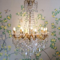 Image: circa 1905 French neo-classical design chandelier