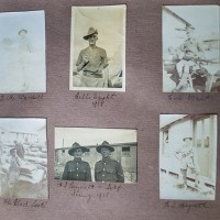 Album page with picture of Bill Slater above and George Glen below