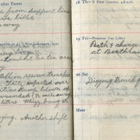 Diary page from World War One Soldier George Grenfell