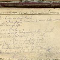 George Samuel Frame World War One paybook