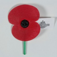 Anzac poppy, late 2000s, New Zealand, by Royal New Zealand Returned and Services' Association. Gift of an anonymous donor, 2011. CC BY-NC-ND 4.0. Te Papa (GH021294)