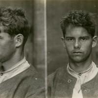 Mug shot, William Millner, 29 November 1907, image provided courtesy of New Zealand Police Museum.