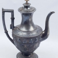 Pewter coffee pot presented to Mrs Paterson, NOM 78/2385