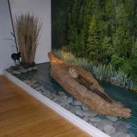 Mokihi display at the North Otago Museum in 2011