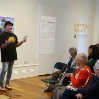 Image: Peter Cleverly, artist talk for his Summer 2017-18 exhibition: Beautiful Knowledge