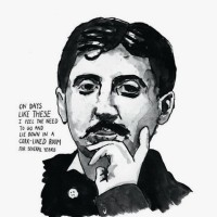 Marcel Proust, Literary Poster Great Writers Series