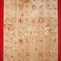 Image credit (detail): Red Cross quilt. Circa 1917, Collection of the North Otago Museum 2015/94.